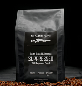 Bolt Action Coffee Bolt Action Coffee, Suppressed (Decaf) 1 lb