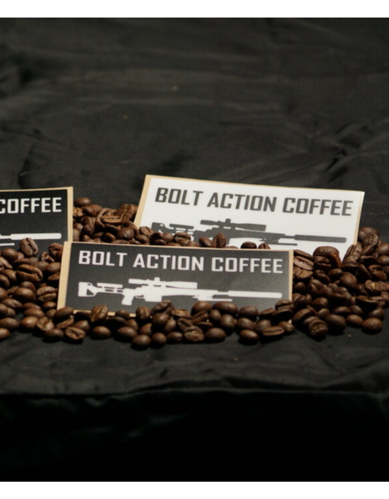 Bolt Action Coffee Bolt Action Coffee, All-Weather Logo Sticker Black