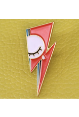 "Mojo Jojo Pickles Mojo Jojo, David Bowie ""Lightning Bolt"" Enamel Pin"