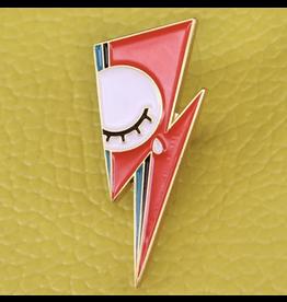 """Mojo Jojo Pickles Mojo Jojo, David Bowie """"Lightning Bolt"""" Enamel Pin"""