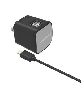 Digipower Digipower Wall Charger 2.4amp InstaSense 2 Port with 5ft Lightning Cable SKU:39865