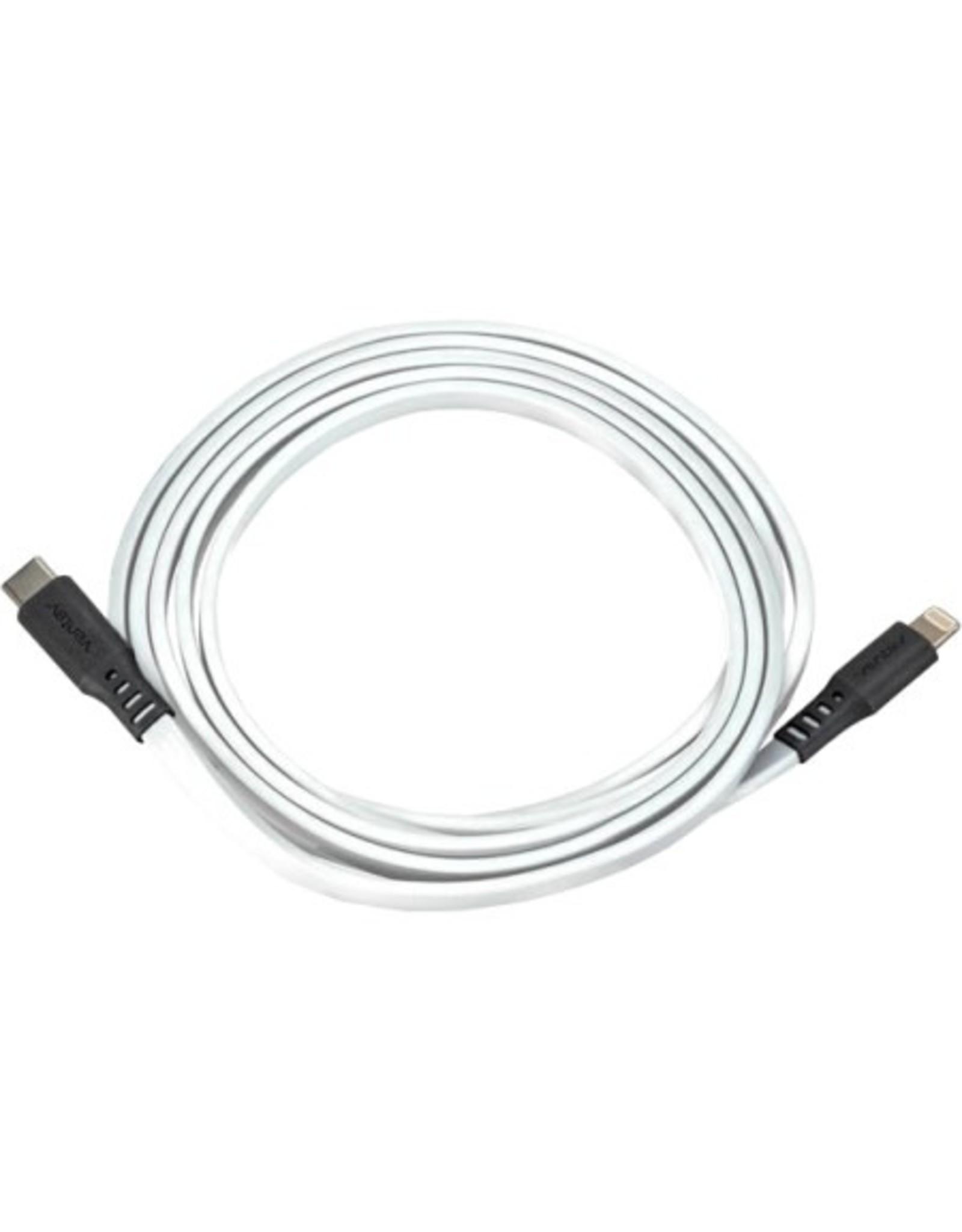 Ventev Ventev 6ft Charge & Sync Lightning to USB-C, White Flat SKU:49692