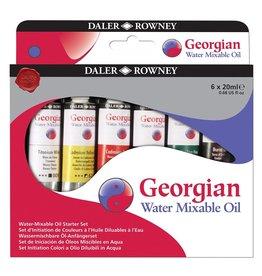 Dixon PAINT SET-OIL, GEORGIAN WATER MIXABLE, 6 COLOURS, 20ML.TUBES