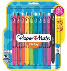 Paper Mate PEN-RETRACTABLE, INKJOY GEL, 0.7MM 10 ASSORTED