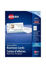 Avery BUSINESS CARDS-2X3-1/2 GLOSSY PHOTO, WHITE 120/EV