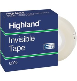 3M TAPE-HIGHLAND, INVISIBLE 12.7MMX32.9M BOXED
