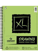 Canson DRAWING BOOK-COIL, XL 9X12 TOP BOUND, 60 SHEET