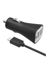 Digipower Digipower Car Charger 2.4amp InstaSense 2 USB Port with 5ft Lightning MFI Cable