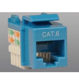 Tripp Lite Tripp Lite Cat6/Cat5e RJ45 110 Punch Down Keystone Jack, Blue
