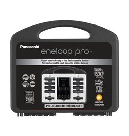 Panasonic Panasonic Eneloop Pro Power Pack Charger Kit With AA 8pk & AAA 2pk