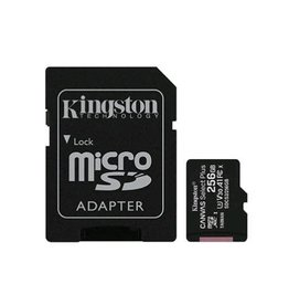 Kingston Technology SD Card - Kingston Technology 256GB MicroSDXC Canvas Select Plus C10 Card and Adapter