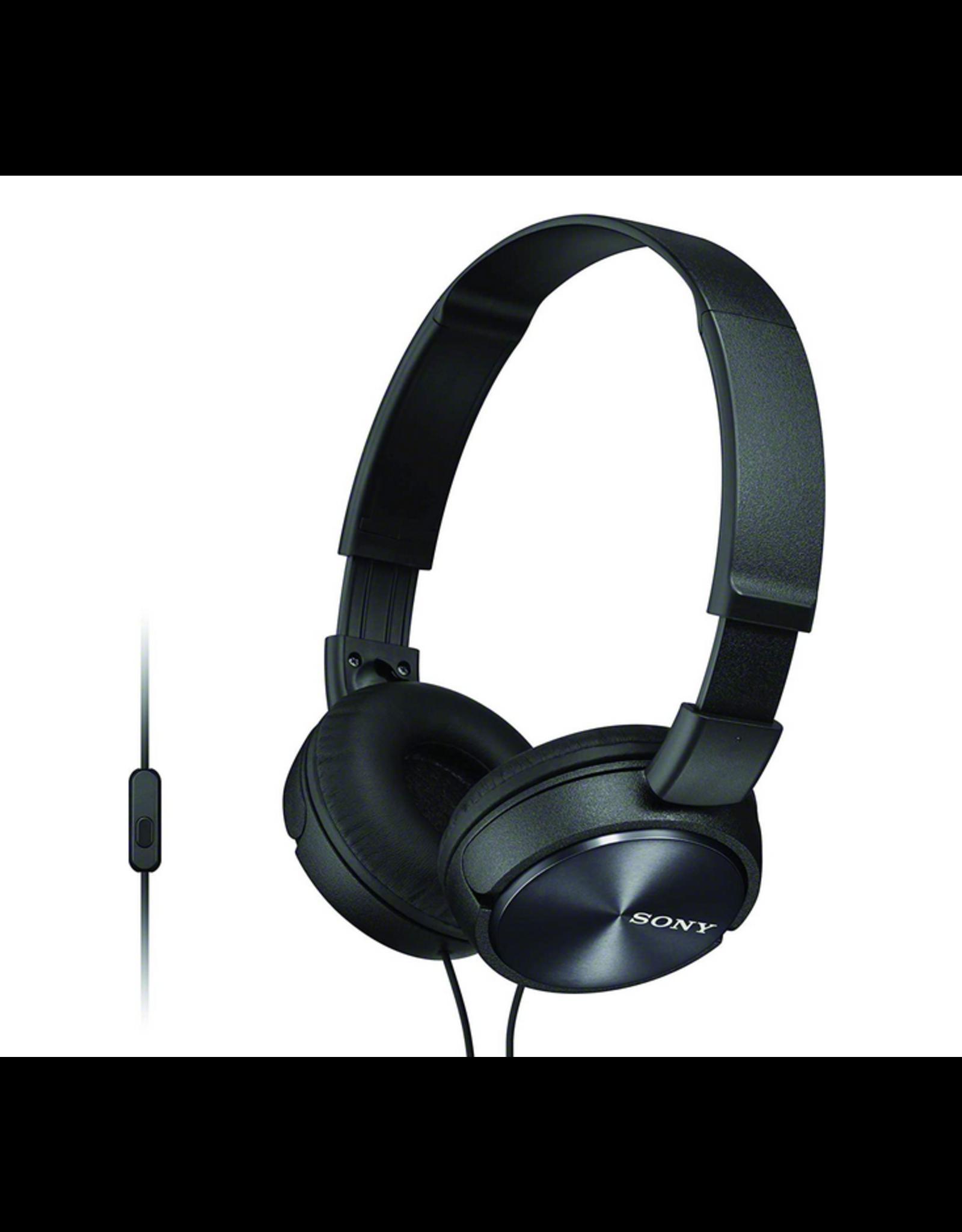 Sony Sony MDRZX310AB Headphones with Microphone Black
