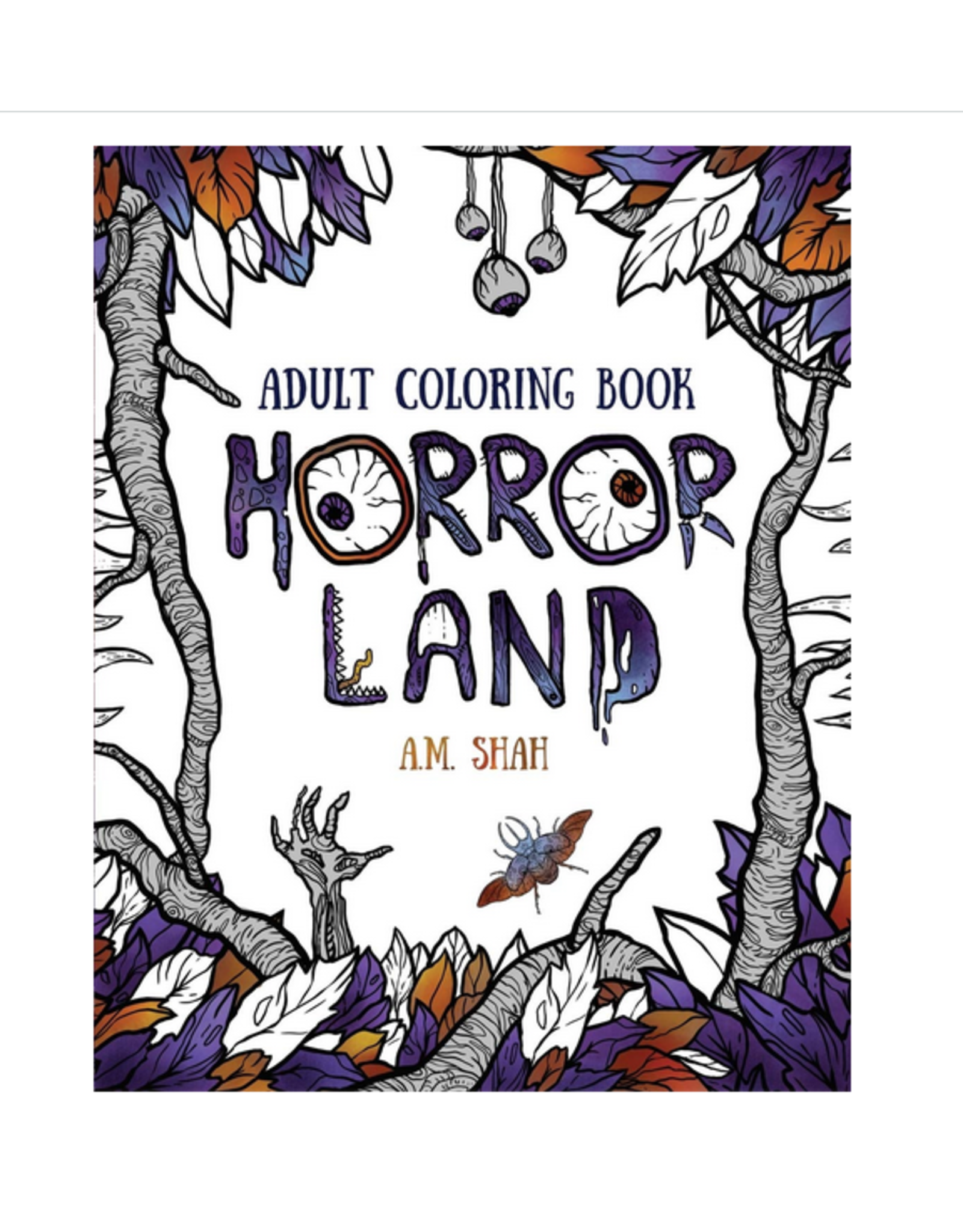 A M Shah Colouring Book for Adults, Horror Land