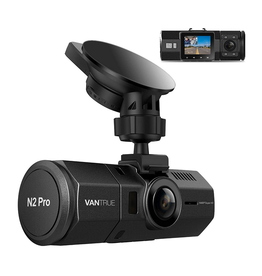 N2 Pro Dash Cam, Front and Inside Cabin with Infrared Night Vision