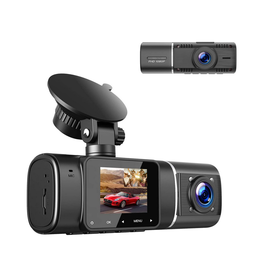 TOGUARD Dash Cam, Front and Inside Cabin with Infrared Night Vision