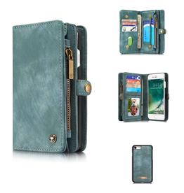 Felidio Felidio iPhone 7/8 Wallet Case, Leather Purse with Magnetic Closure, Blue