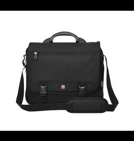 SwissGear MESSENGER BAG-EXPANDABLE, SWISSGEAR DELUXE BLACK