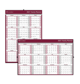Blueline PLANNER-WALL, YEARLY 32X48 LAMINATED ENGLISH 2021