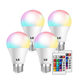LE LE RGBW Light Bulb Dimmable 6W LED 4 Pack