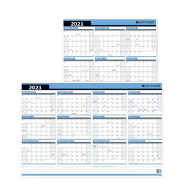 "Day-Timer Planner, Day-Timer Blue & White Reversible 24"" x 36"" Wipe-off Surface 12 Month"