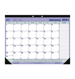 Blueline CALENDAR PAD-DESK MONTHLY 21-1/4X16 ENGLISH  2021