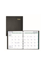 """Blueline Planner, Blueline MiracleBind 16-Month Monthly 11"""" x 9"""", Bilingual, Black"""