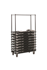 GLOBAL OFFICE Global Offices To Go, Folding Chair Dolly, Metal, Black, 30 Chair Capacity