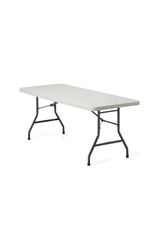 """GLOBAL OFFICE Table - Global Offices To Go, Lite-Lift II Folding Rectangular Table, Plastic and Steel, Oyster Grey, 72""""W x 30""""D x 29 1/4""""H"""