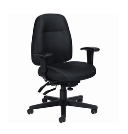 Global Express Global Offices To Go, Full Time, Mid-Back Multi Tilter Chair, Black
