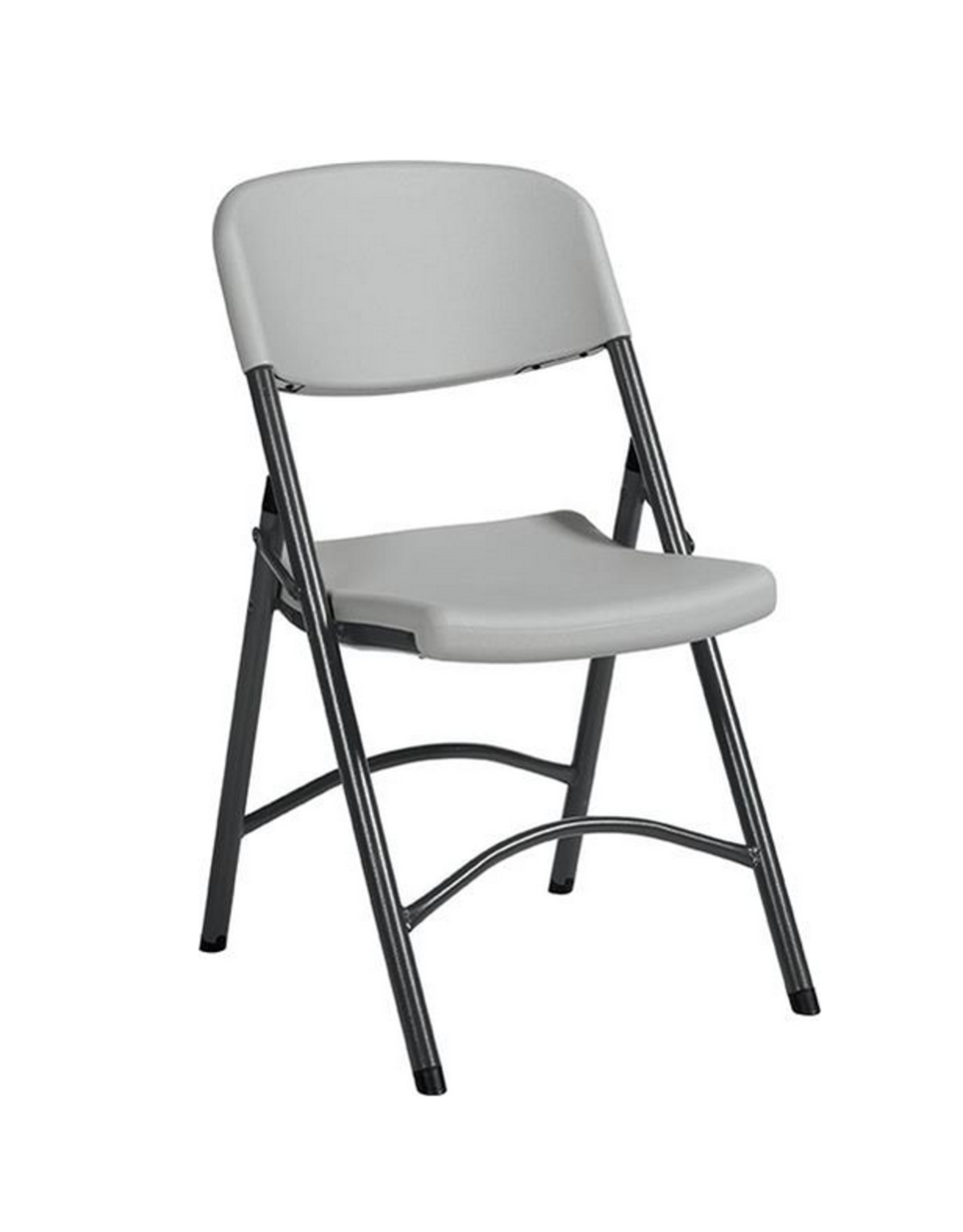 """GLOBAL OFFICE Global Offices To Go, Folding & Stacking Chair, Plastic, White, 21 1/2""""W x 18 1/2""""D x 33""""H"""