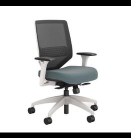 "Union & Scale Union & Scale, Lewis Mesh Work Chair, Carolina, 41.75"" H x 29.5"" D x 29.5"" L"