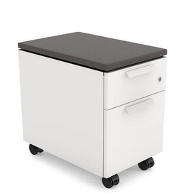 "Union & Scale Union & Scale, Lewis 2-Drawer Mobile Pedestal, Letter/Legal Size, Charcoal, 23"" H x 24"" D x 15"" L"