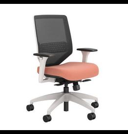 "Union & Scale Union & Scale, Lewis Mesh Work Chair, Salmon, 41.75"" H x 29.5"" D x 29.5"" L"