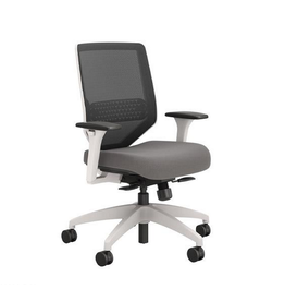 """Union & Scale Union & Scale, Lewis Mesh Work Chair, Charcoal, 41.75"""" H x 29.5"""" D x 29.5"""" L"""