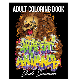 Jade Summer Colouring Book for Adults, Graffiti Animals