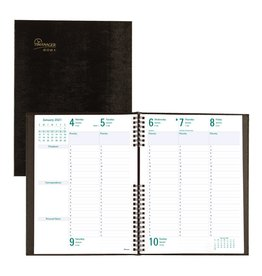 Blueline PLANNER-WEEKLY, 5 DAY COILPRO 10-1/4X7-5/8 BLACK, ENG. 2021