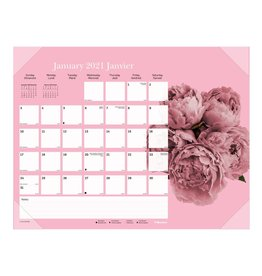 Blueline CALENDAR PAD-DESK MONTHLY 22X17 PINK RIBBON, BILINGUAL  2021