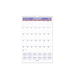 At-A-Glance CALENDAR-WALL MONTHLY WIRE 15-1/2X22-3/4 BILINGUAL  2021
