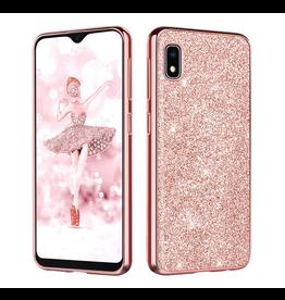 Samsung Galaxy A10e Slim Case, Sparkly Glitter Rose Gold