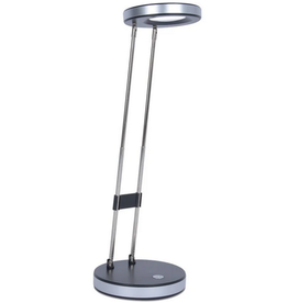 Royal Sovereign LAMP-DESK, TELESCOPING COMPACT LED, ROUND, BLACK & SILVER