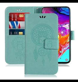 Sidande Sidande Samsung Galaxy A70 Case, PU Leather Flip Wallet, Green