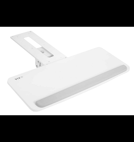 VIVO VIVO Adjustable Computer Keyboard and Mouse Tray, Under Desk Mount, White