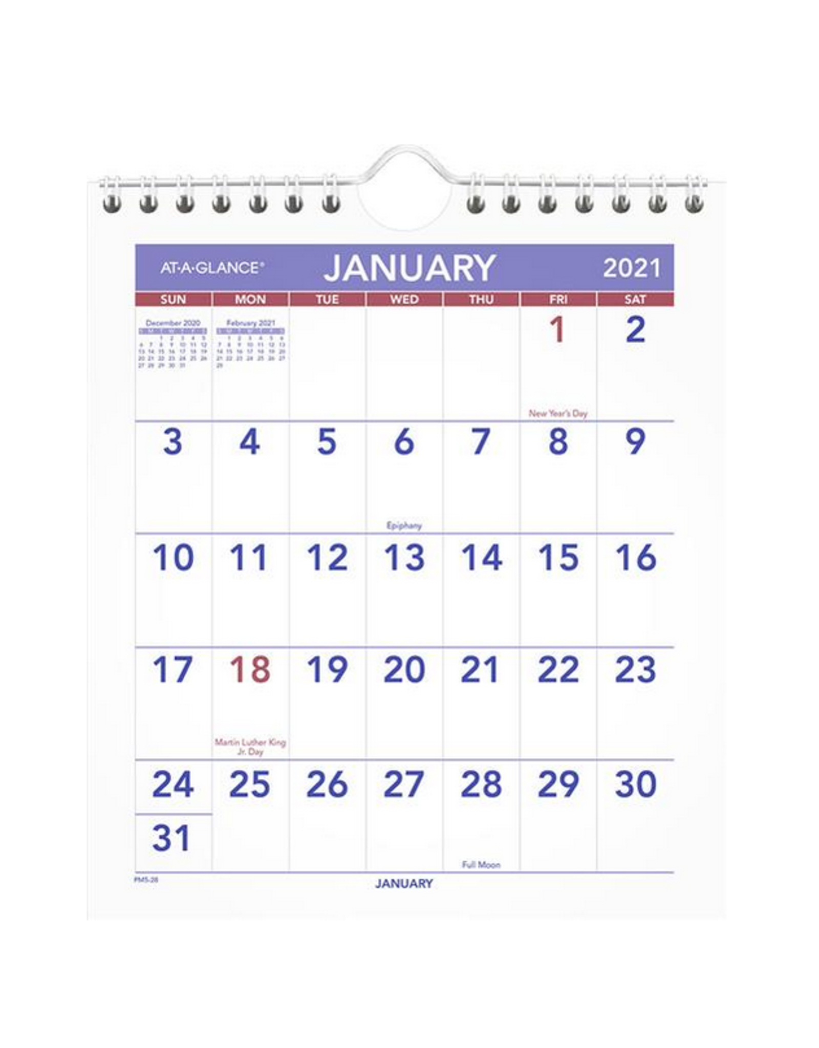 """At-A-Glance At-A-Glance, Easel Calendar, Monthly 7 5/8"""" x 6 1/2"""" x 5/16"""", English"""