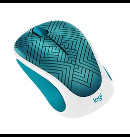 Logitech Logitech Design Collection Wireless Mouse, Teal Maze