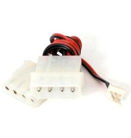 Startech Startech 12'' Fan Adapter TX3 to 2X LP4 Power