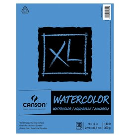 Canson WATERCOLOUR PAPER PAD-9X12,  XL FOLD OVER, 30 SHEET