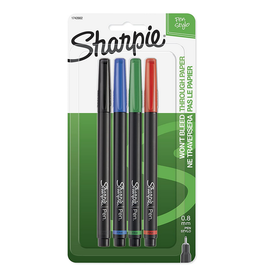 Sharpie PEN-POROUS, SHARPIE FINE BLACK, BLUE, RED, GREEN