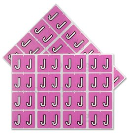 TOPS Products LABELS-ALPHABETIC COLOUR CODE, J  LILAC