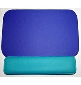 First Base Inc. MOUSE PAD/WRIST REST/ PALM SUPPORT, BLUE & TEAL  MP-25