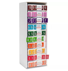 TOPS Products LABELS-NUMERIC COLOUR CODE, STARTER KIT